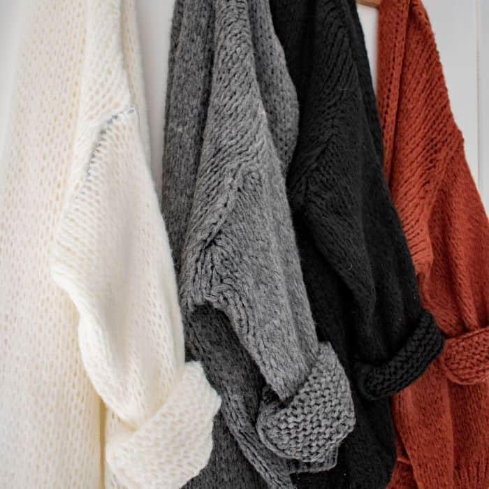 gilet en laine noir, gilet en laine blanc, gilet en laine gris, gilet en laine brique