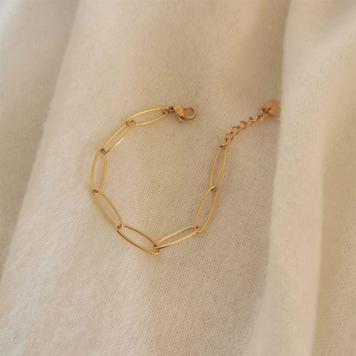bracelet gros maillons chaine dorée