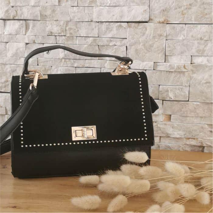 sac à main cartable noir cuir